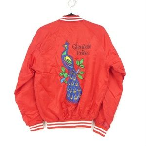 Vintage Glendale Pride Peacock Red Satin Jacket